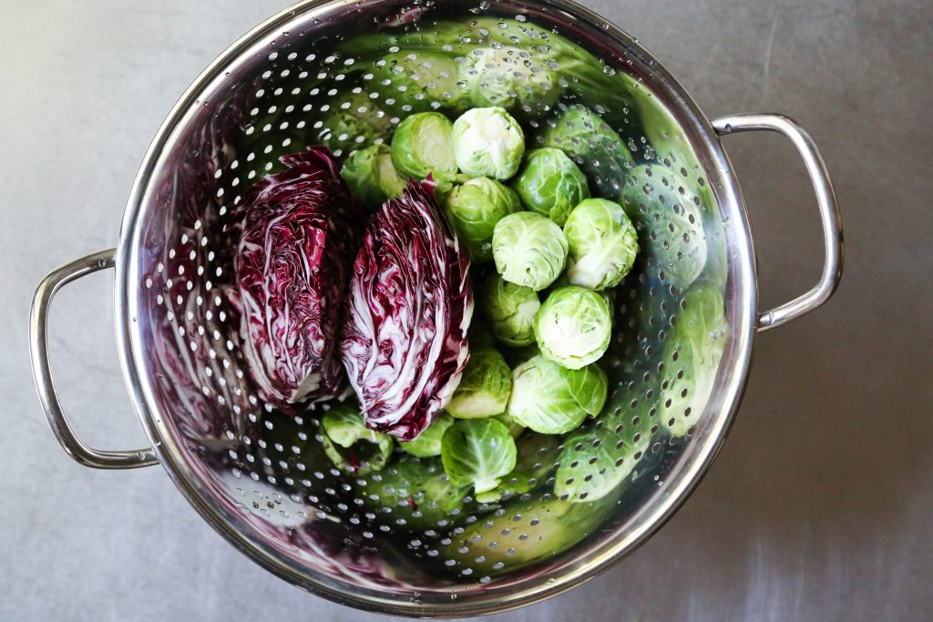Brussels Sprouts and Radicchio