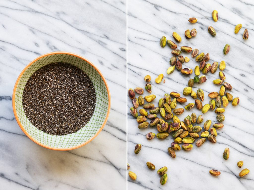 Chia Seeds and Pistachios