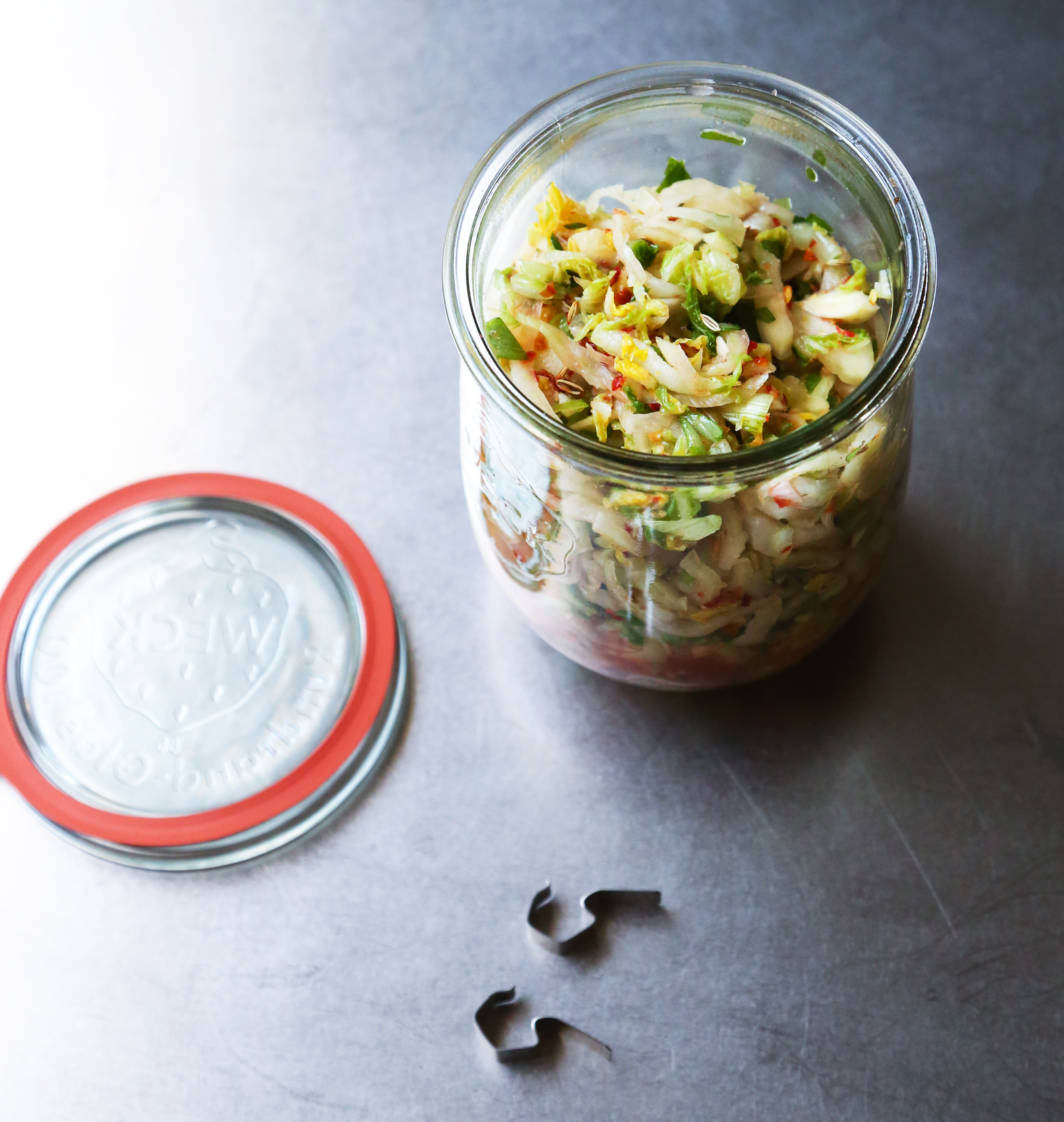 Green Kitchen Kimchi: Quick Fennel And Cabbage Kimchi