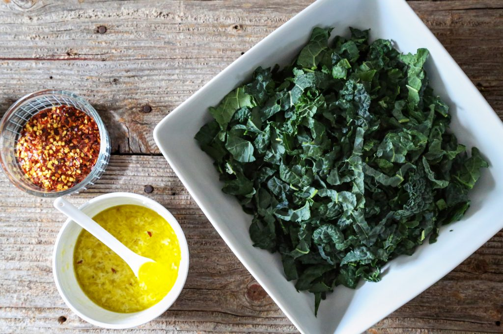 Dressing Kale Salad