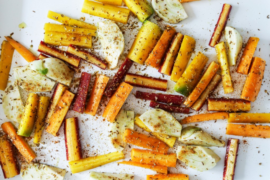 Spiced Carrots and Fennel