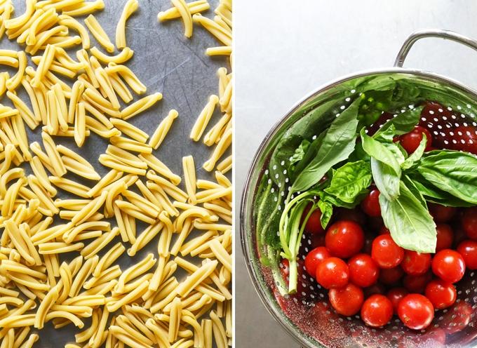 Pasta, Tomatoes, Basil
