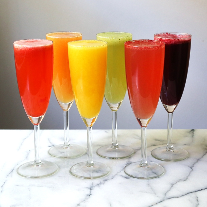 Prosecco and Fruit Purees