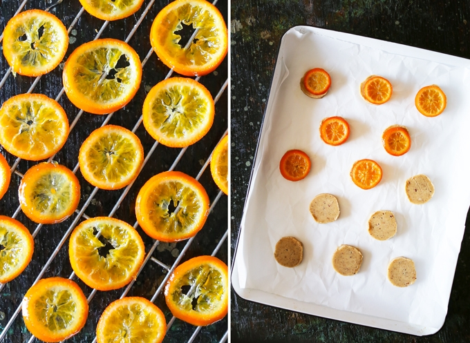 Candied Clementines and Cookies