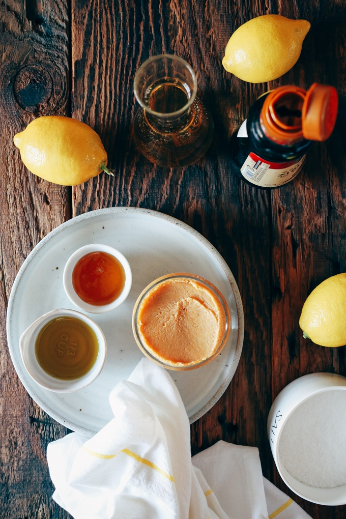 Miso Lemon Vinaigrette Ingredients