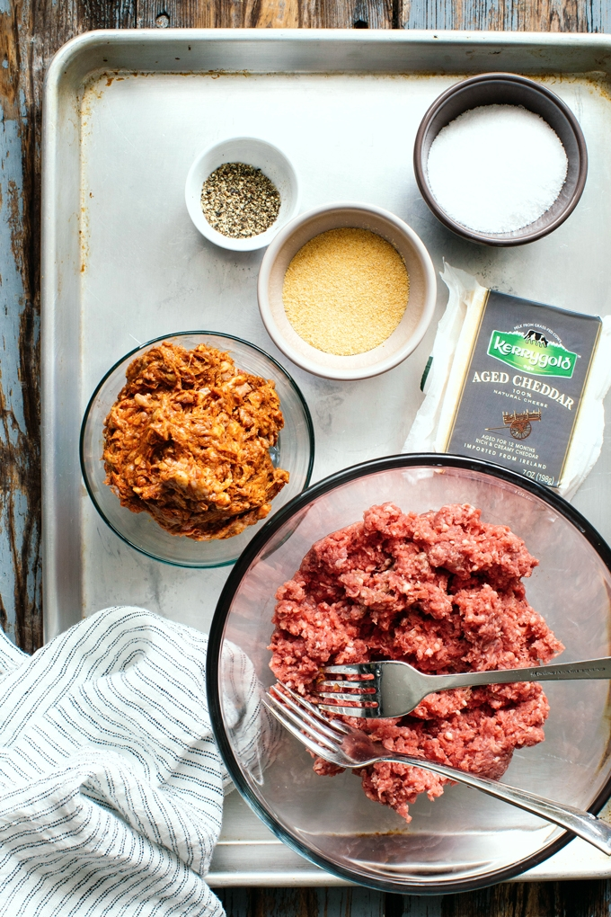 Chorizo Cheddar Burger Ingredients