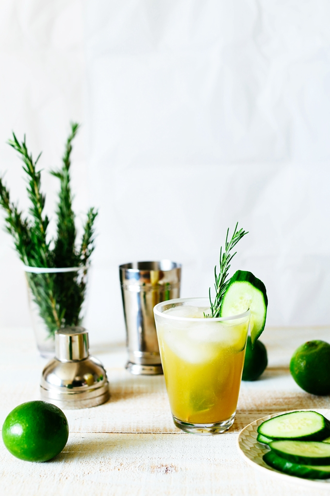 Cucumber Lime Zinger Cocktail