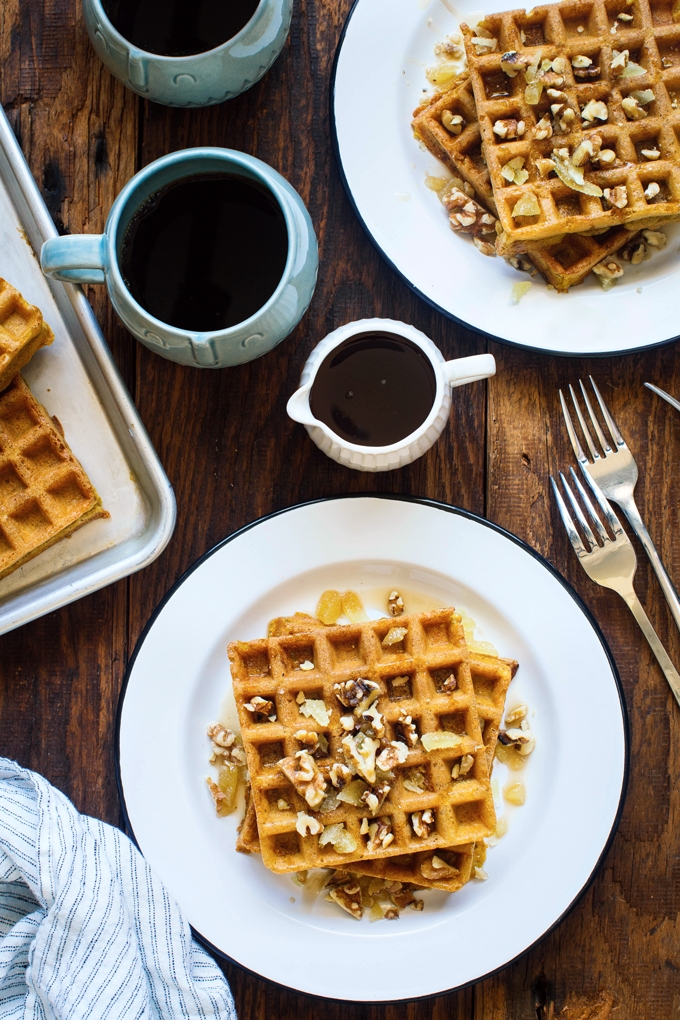Yeasted Pumpkin Waffles