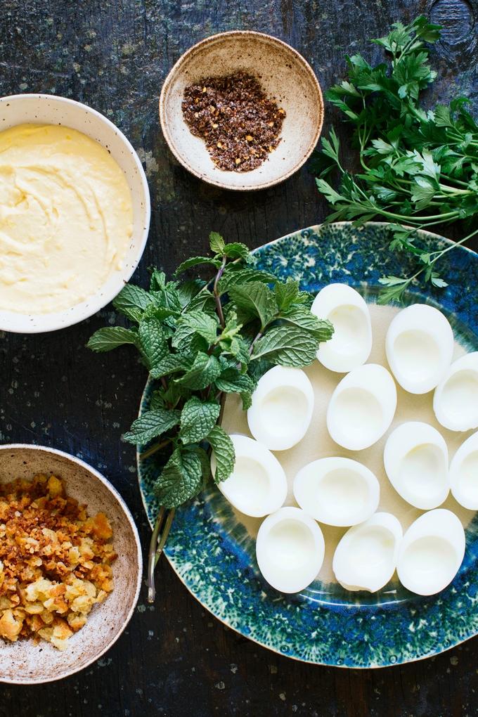 Falafel Spiced Deviled Eggs Ingredients
