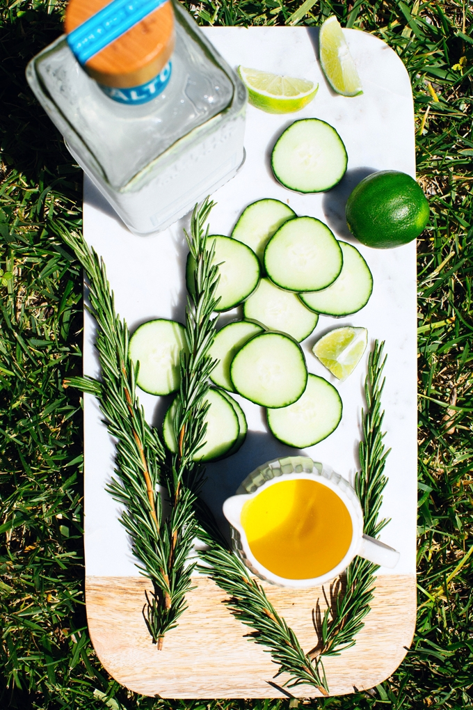 Cucumber Rosemary Margarita Ingredients