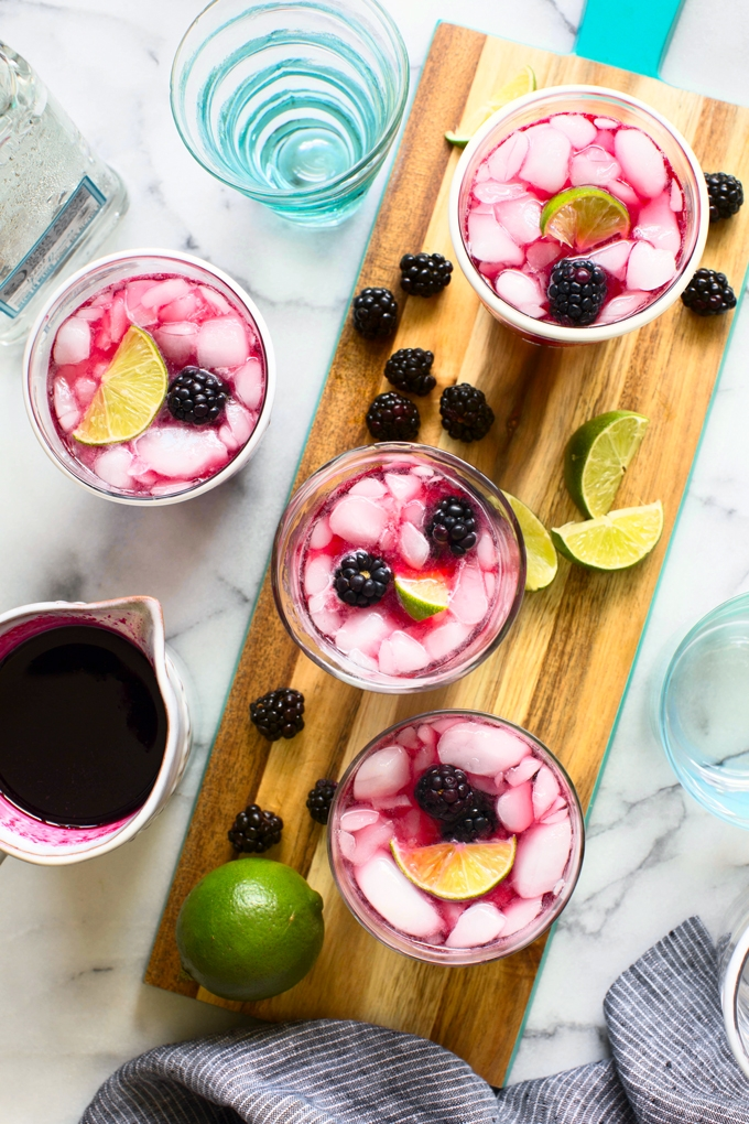 Blackberry Hibiscus Cooler Cocktail Recipe