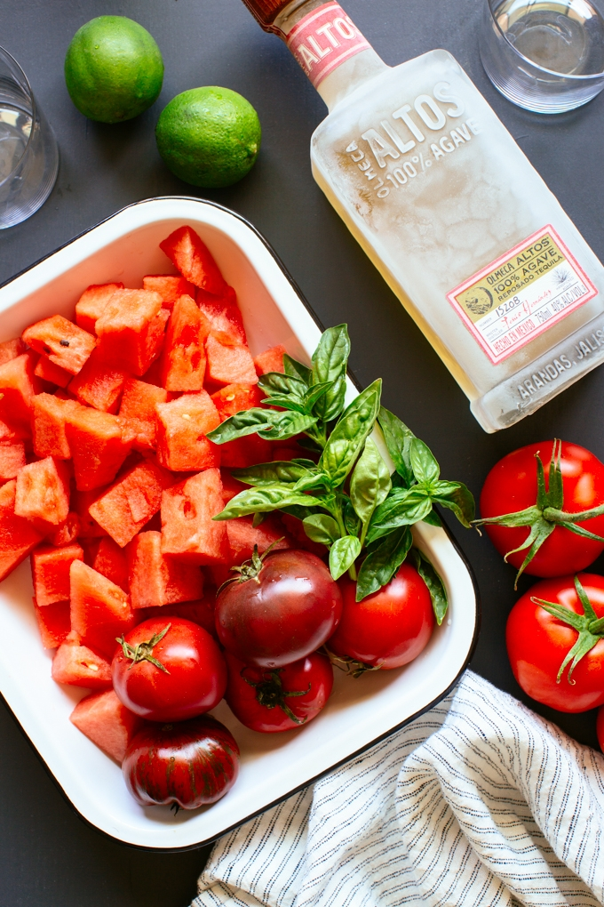Watermelon Tomato Margarita Ingredients