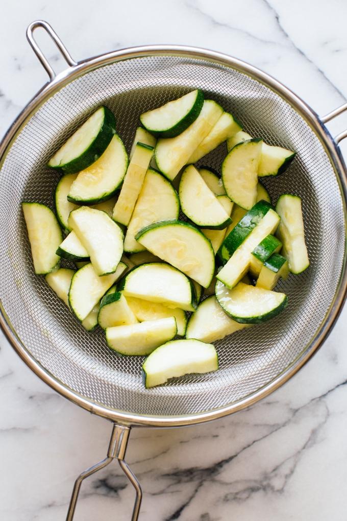 Salted Zucchini