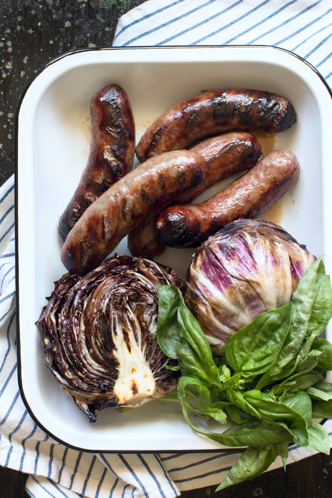 Grilled Bratwurst and Radicchio