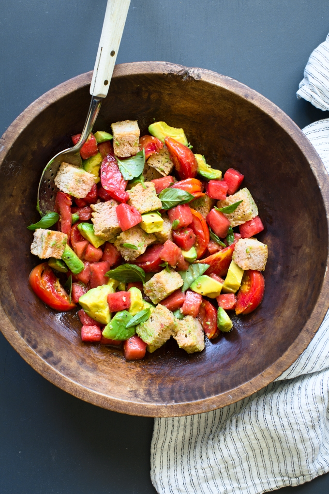 Watermelon and Tomato Panzanella Recipe