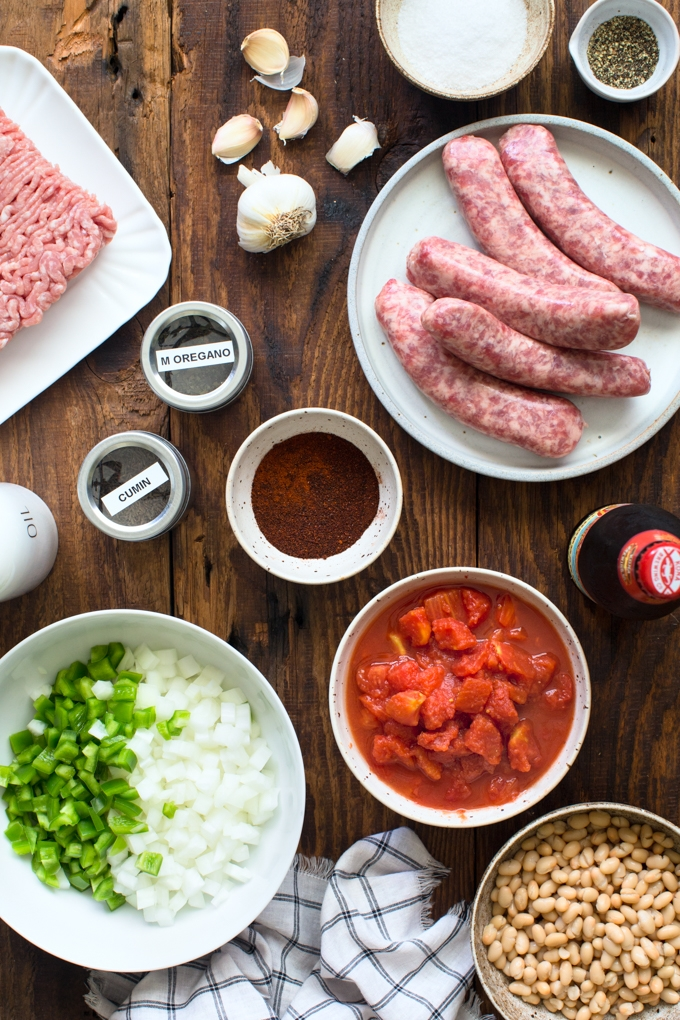 Beer Brat Chili Ingredients