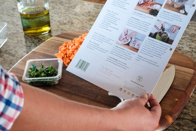Terra's Kitchen Instructions