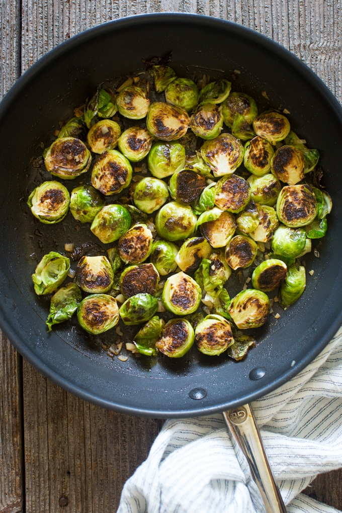 Lemon Pan-Seared Brussels Sprouts
