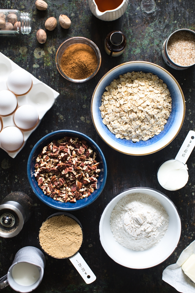 Bourbon Pecan Oatmeal Cookies Ingredients