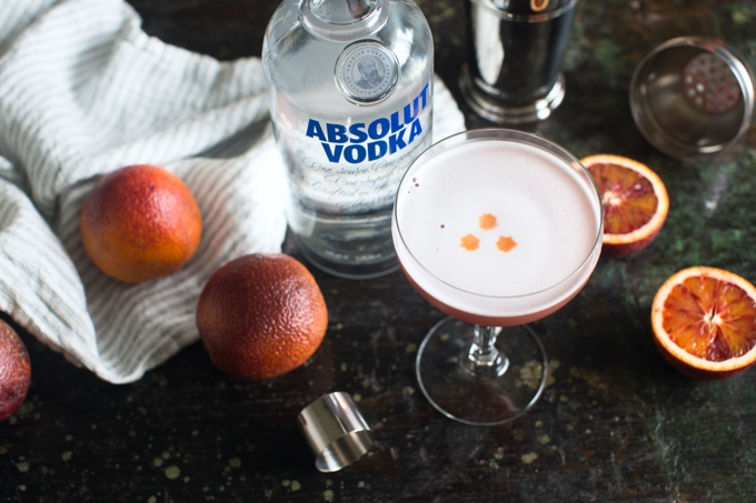 Blood Orange Vodka Sour Recipe