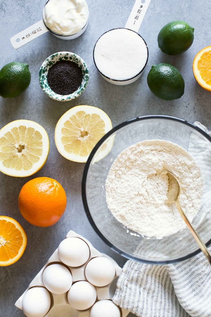 Citrus Poppy Seed Cake Ingredients