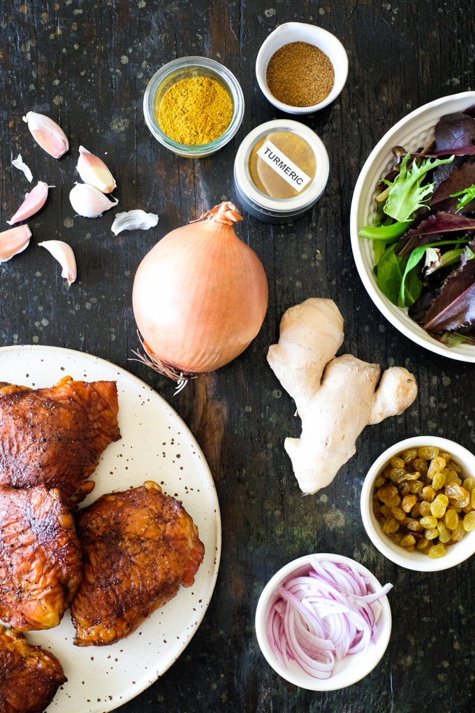 Smoked Curried Chicken Salad Ingredients