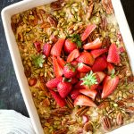Strawberry Rhubarb Baked Oatmeal Recipe