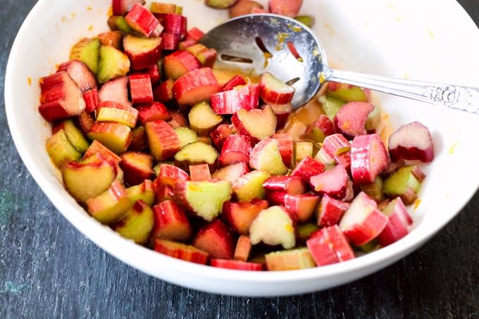 Macerated Rhubarb