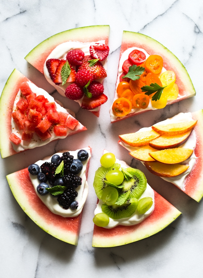 Rainbow Watermelon Pizza