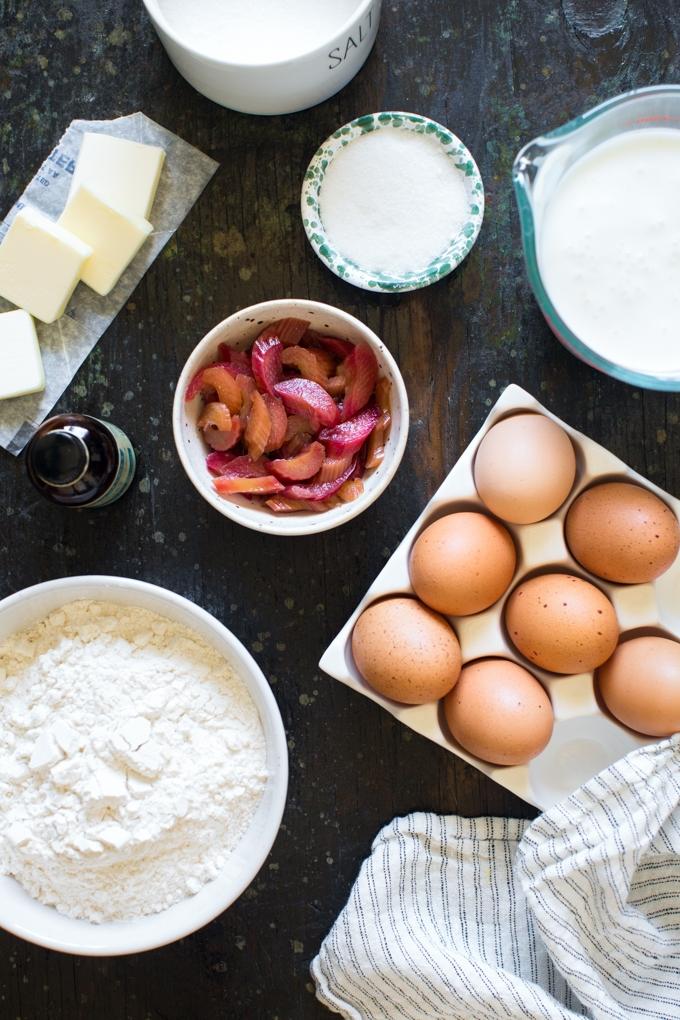 Rhubarb Waffle Ingredients