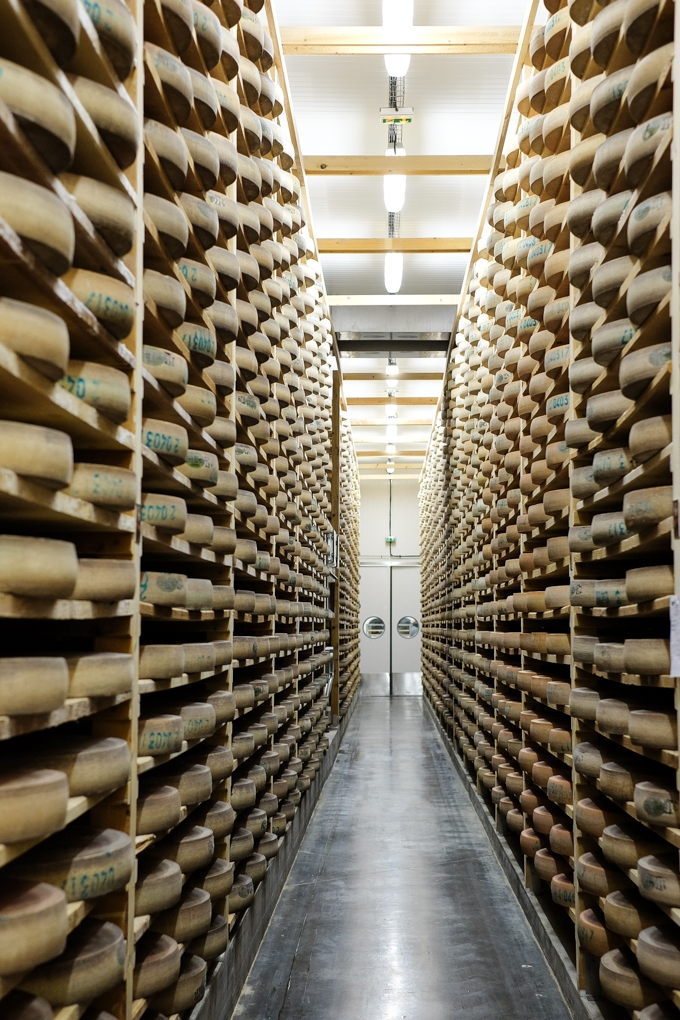 Wheels of Comté Cheese