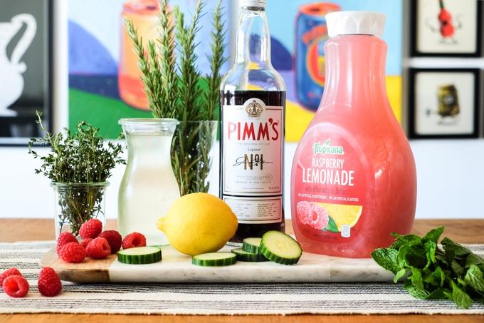 Raspberry Pimm's Cup Ingredients