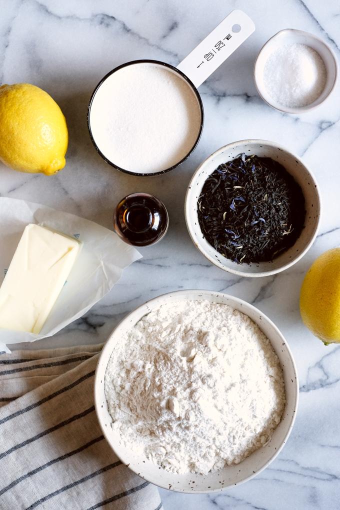 Earl Grey Shortbread Cookies Ingredients