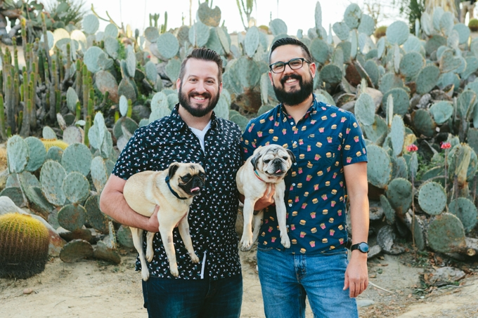 Brandon and Jorge with Pugs