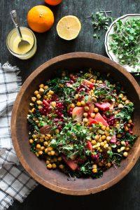 Superfood Salad with Easy Roasted Chickpeas Recipe