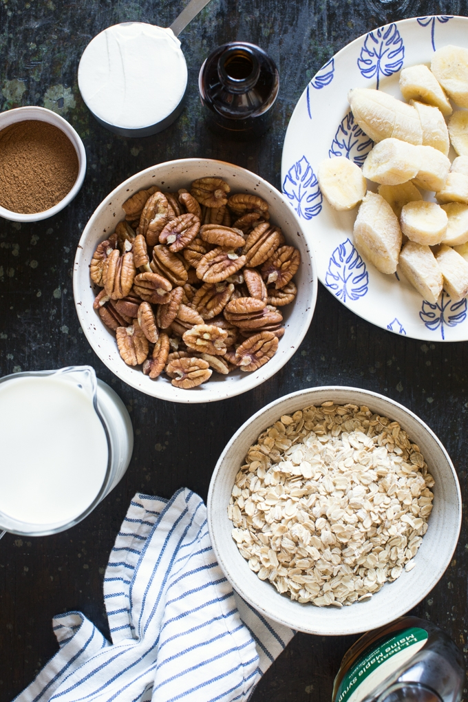 Toasted Oat and Pecan Smoothie Ingredients