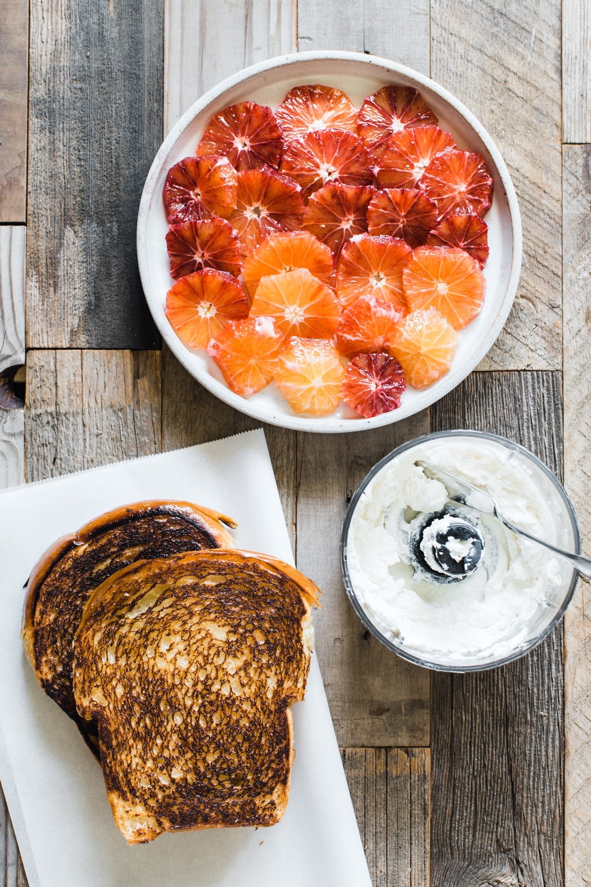 Making Blood Orange Ricotta Toast
