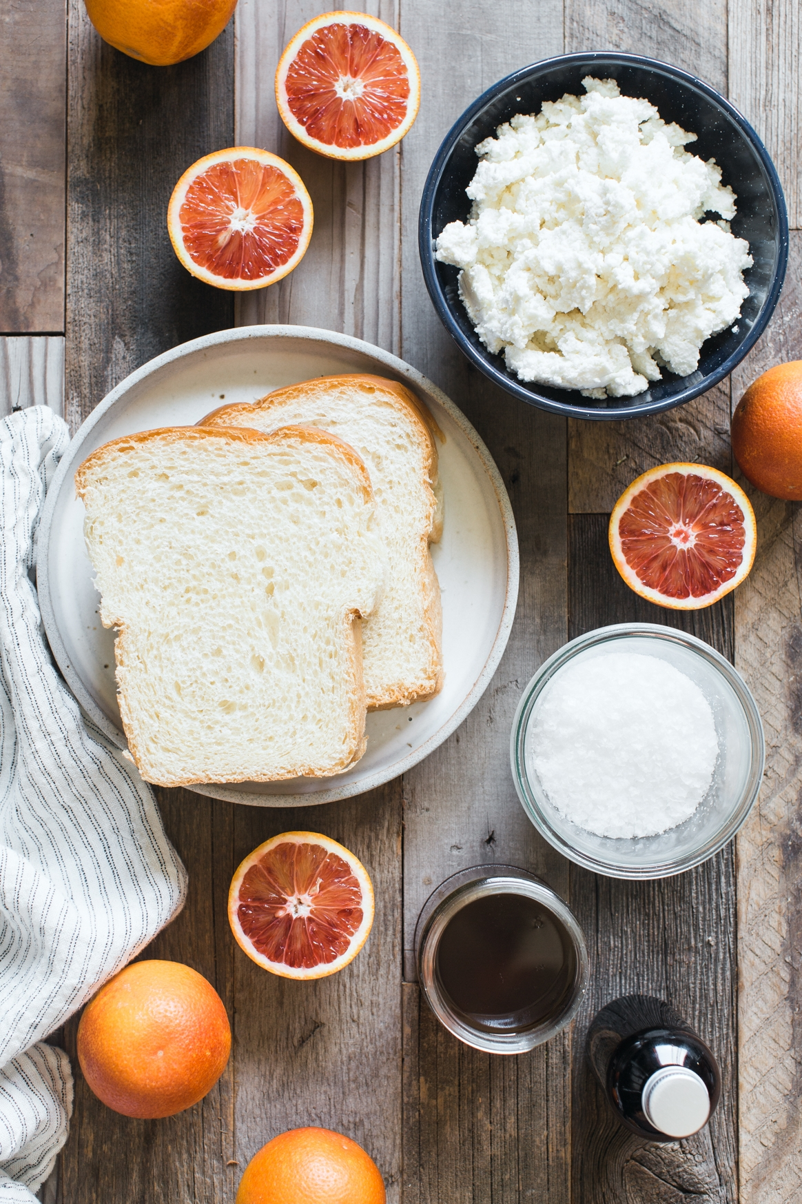 Blood Orange Ricotta Toast Ingredients