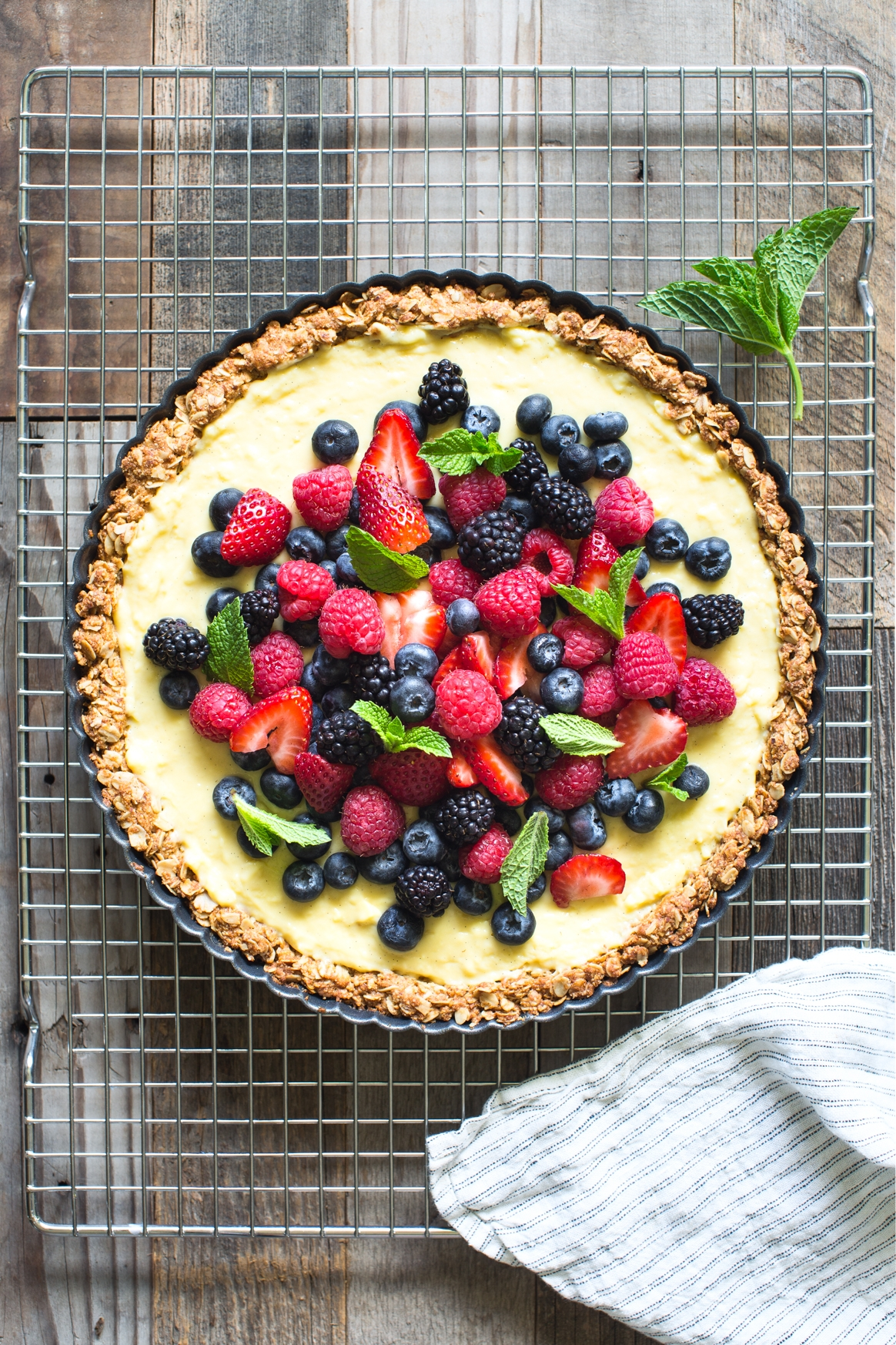 Almond, Oat and Berry Tart
