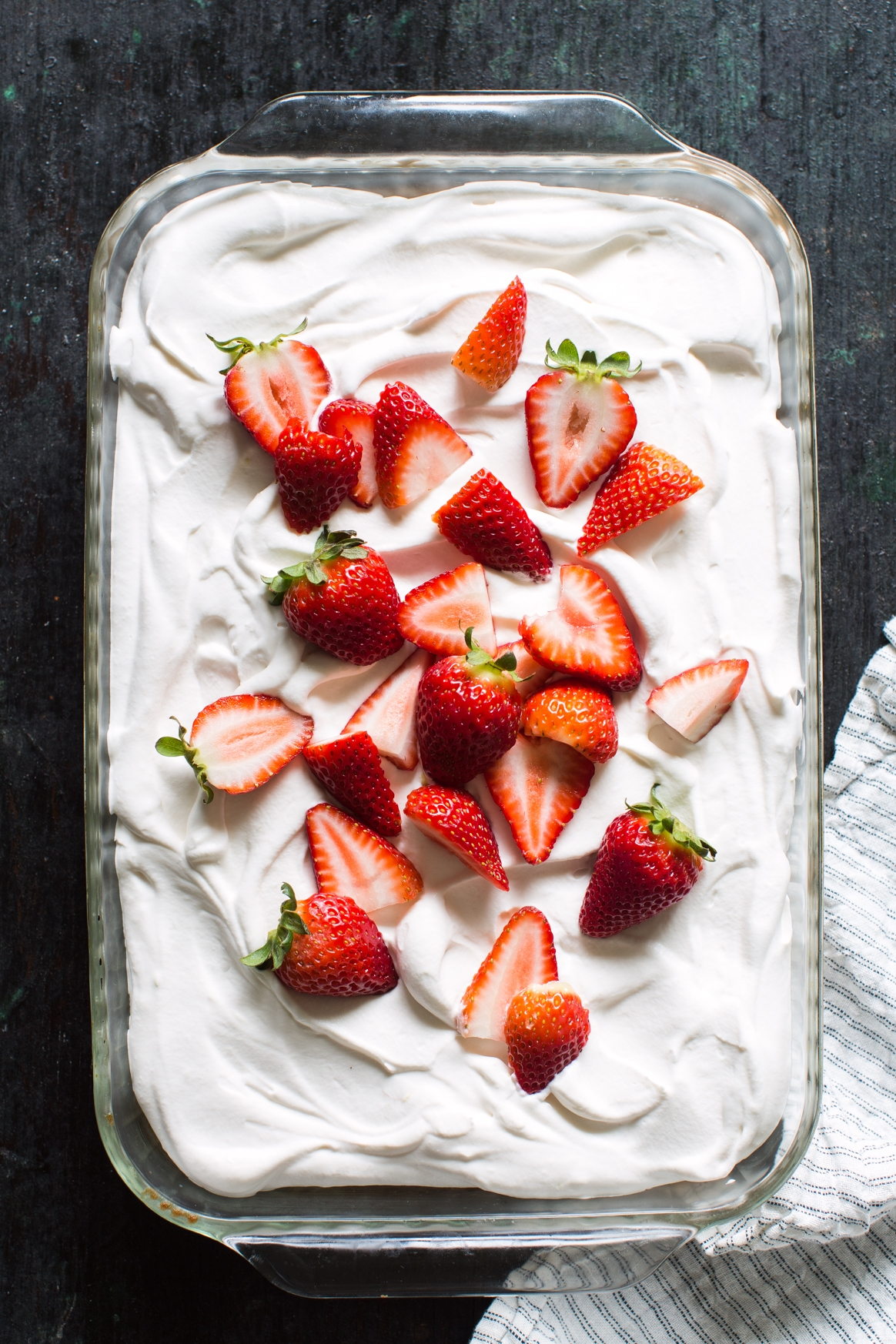 Strawberry Rhubarb Tres Leches Cake