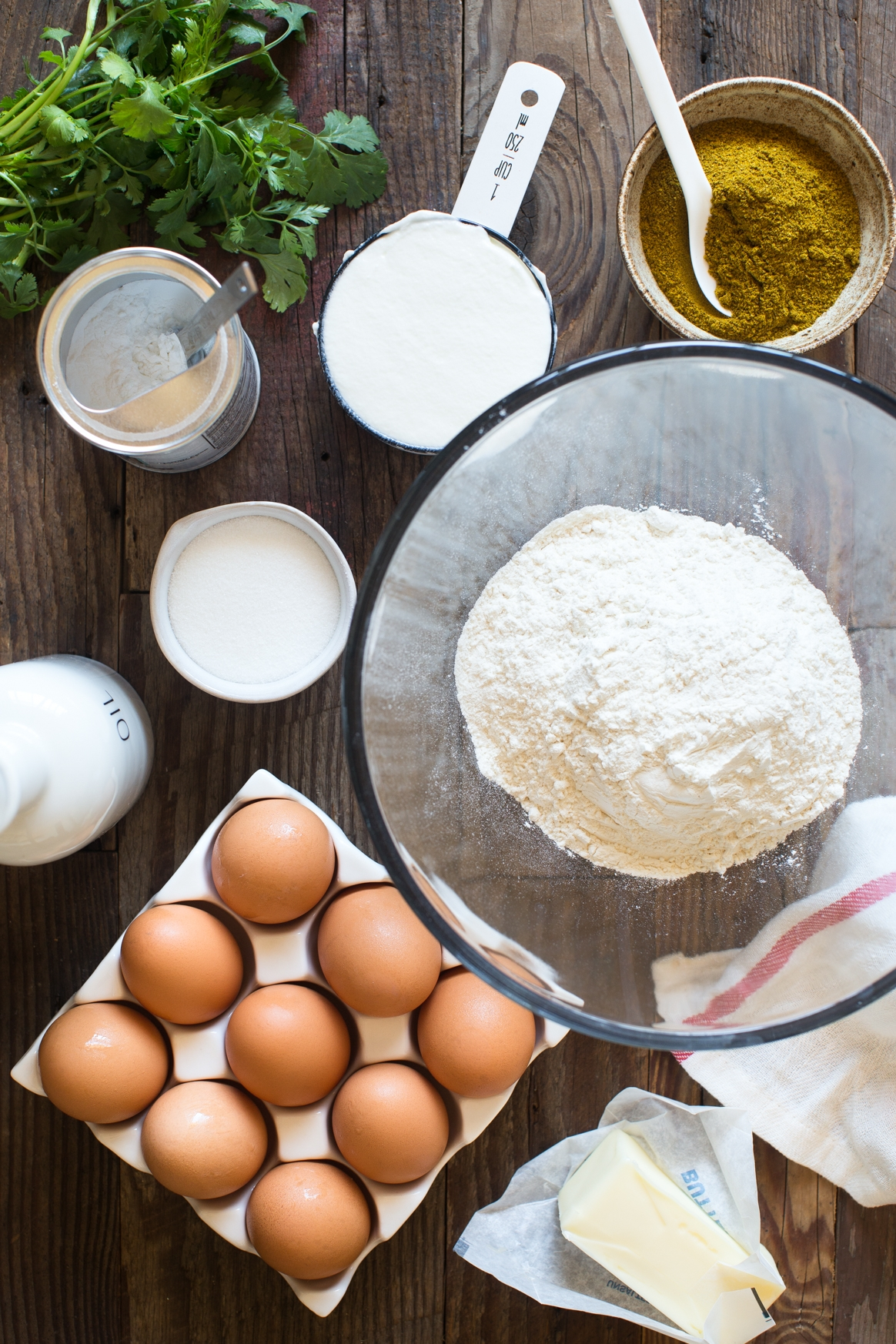 Homemade Flatbread with Yogurt, Eggs and Curry Brown Butter Ingredients