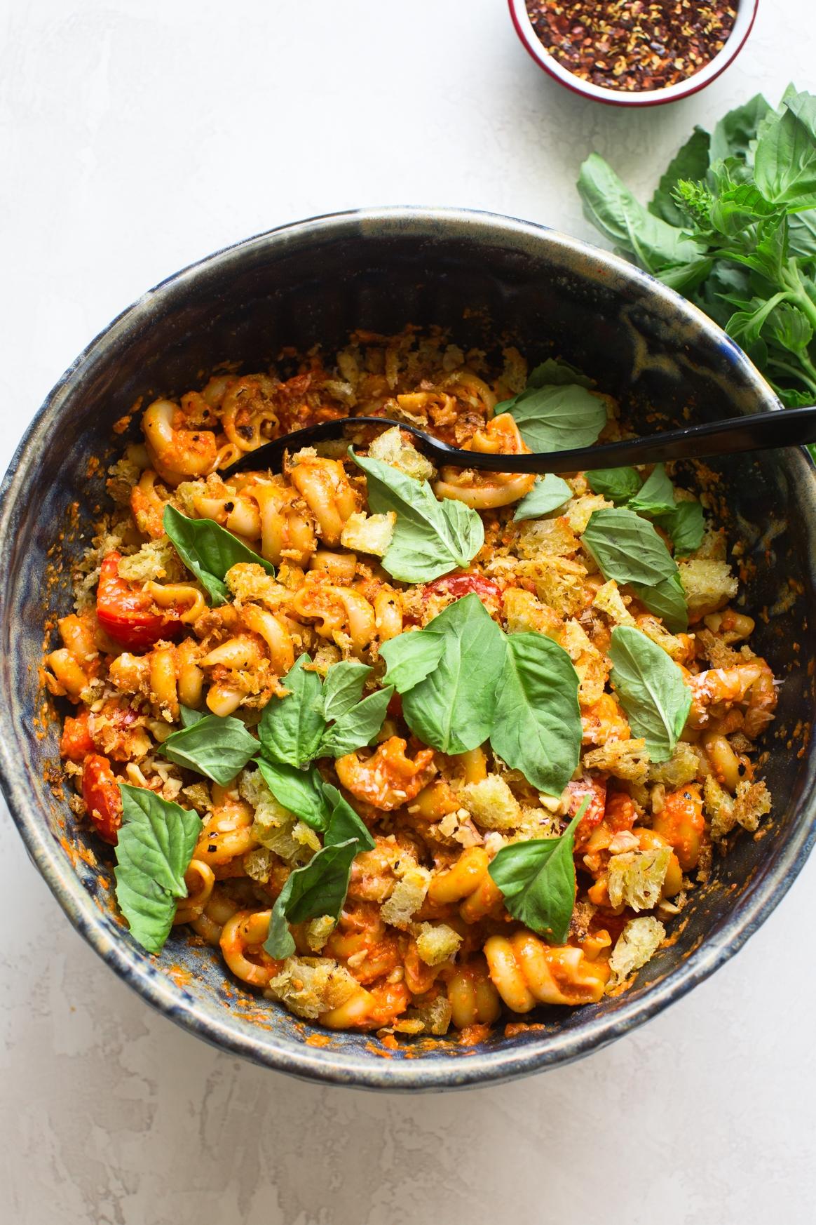 Roasted Red Pepper Pasta Salad Recipe