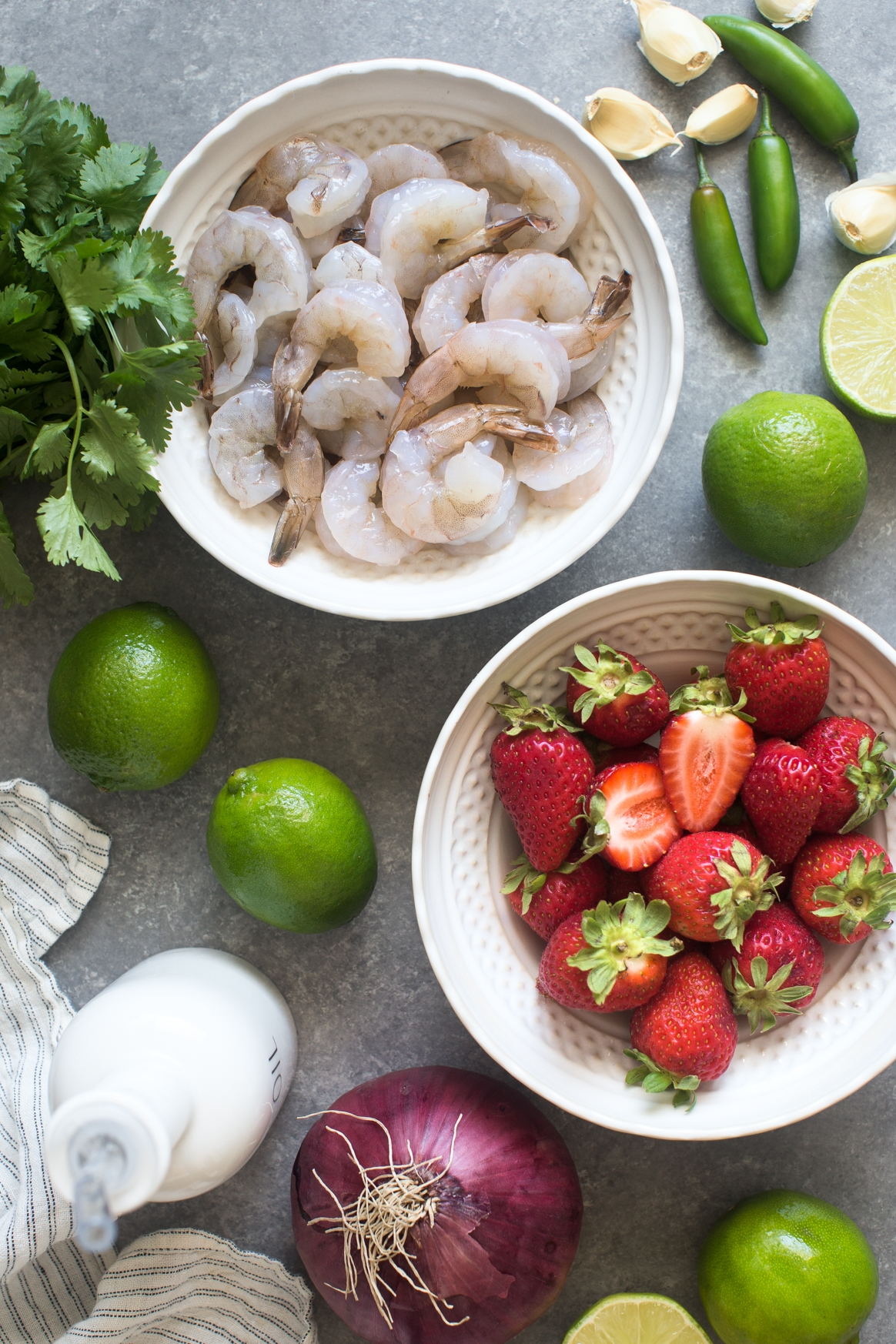 Shrimp Tacos with Strawberry Salsa Ingredients