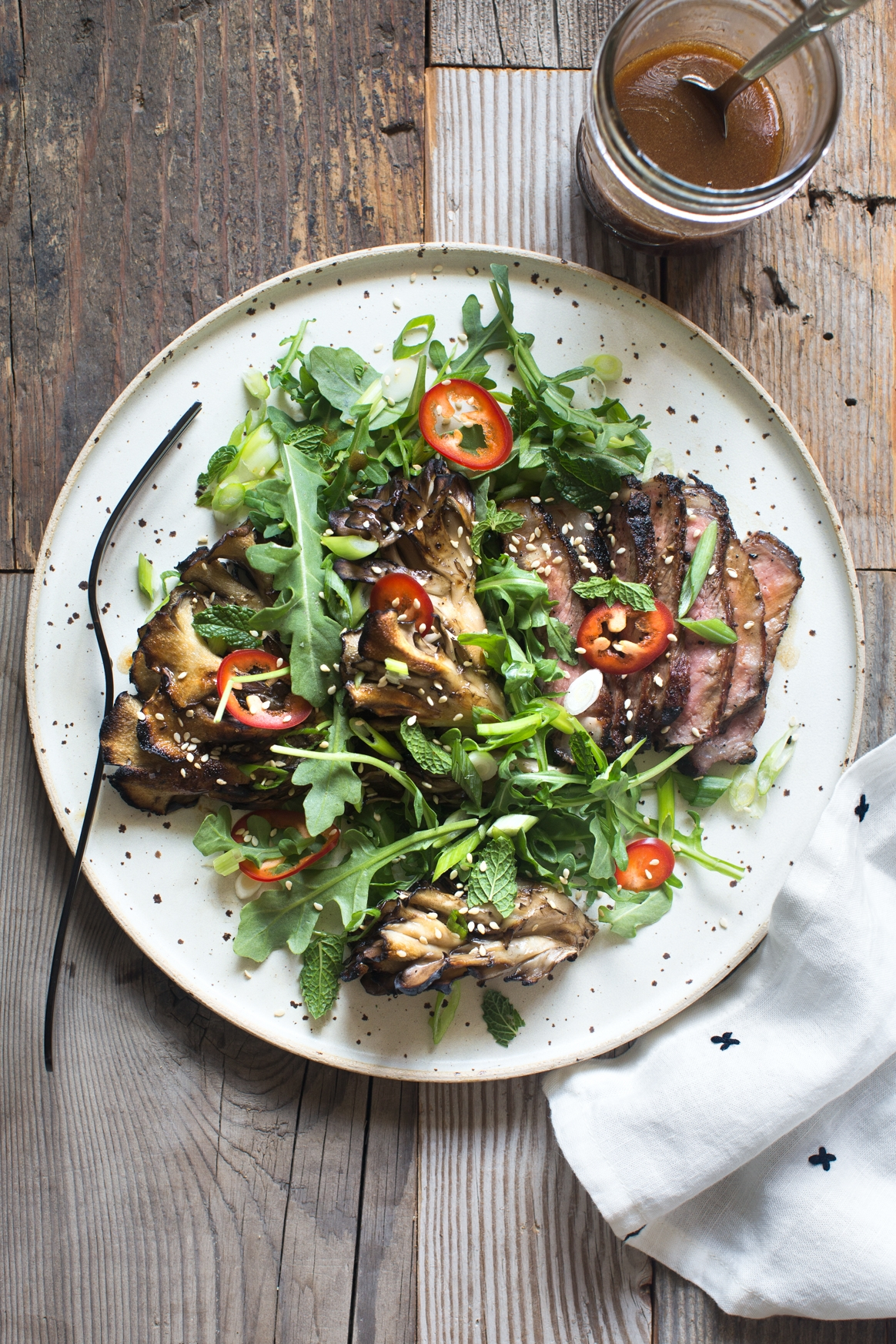 Grilled Steak & Mushroom Salad Recipe