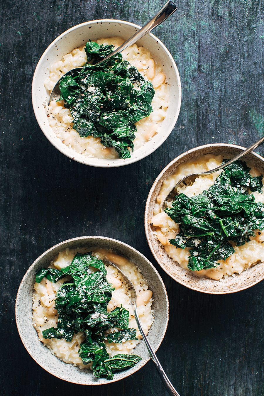 White Bean Risotto with Garlicky Greens