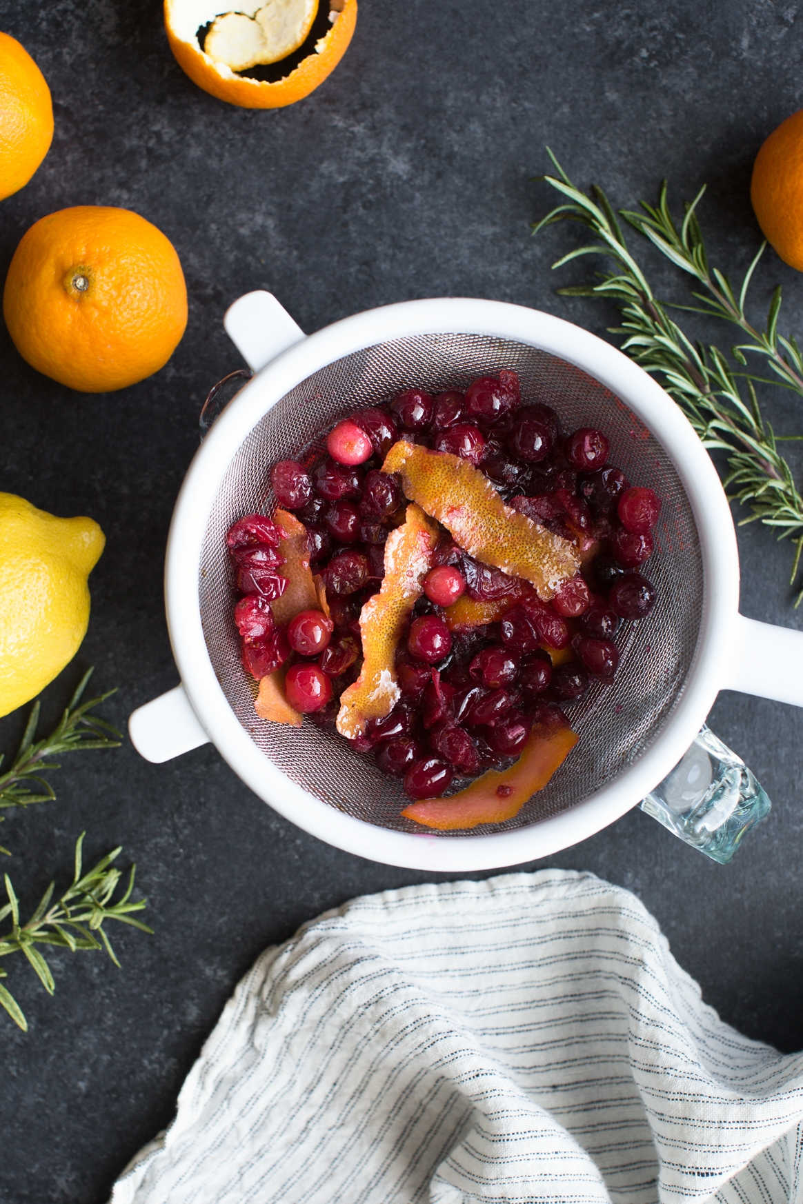 Making Cranberry Citrus Syrup