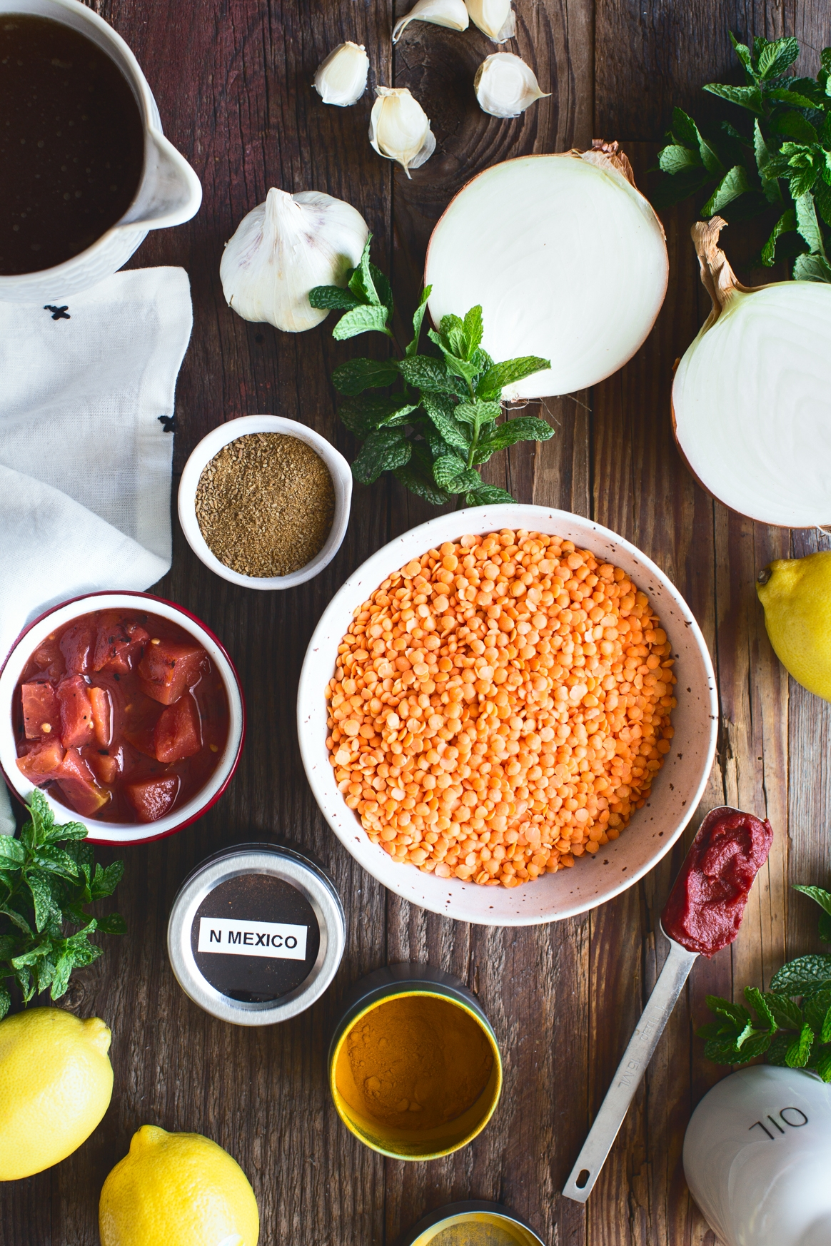 Instant Pot Red Lentil Soup Ingredients