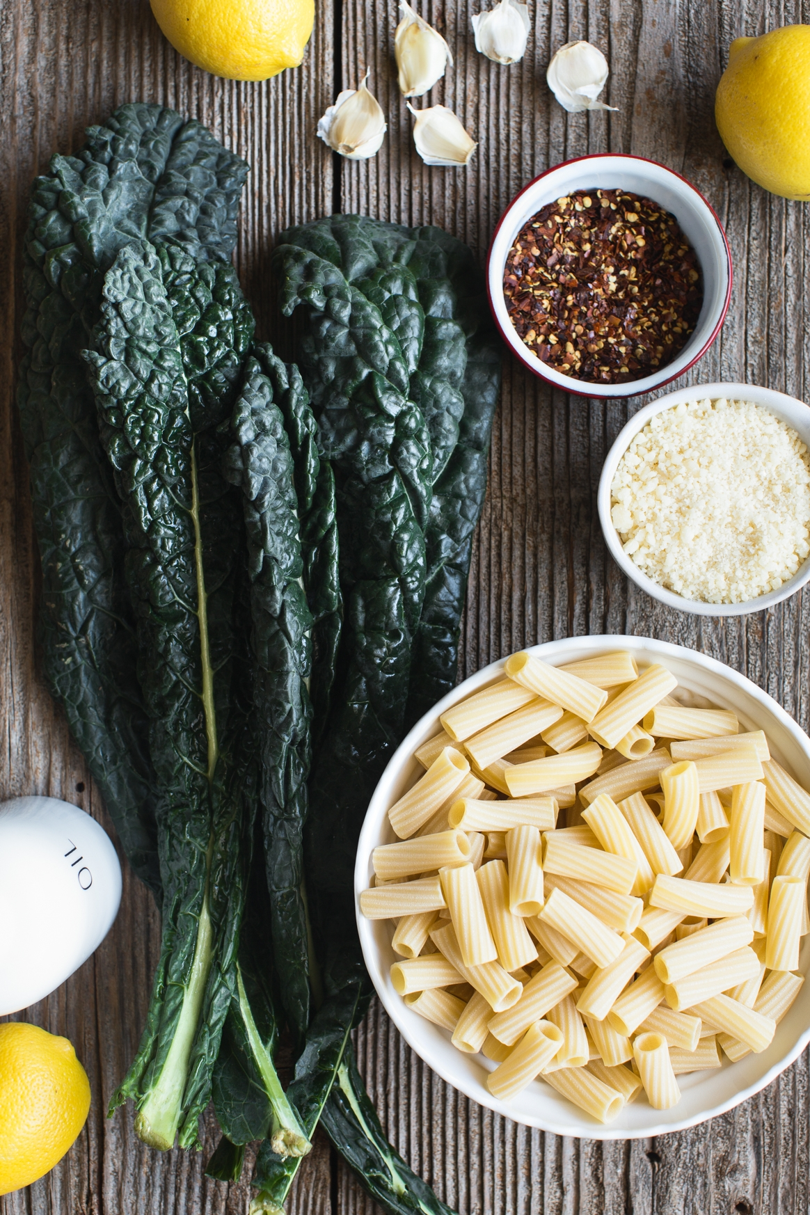 Rigatoni with Easy Kale Sauce Ingredients