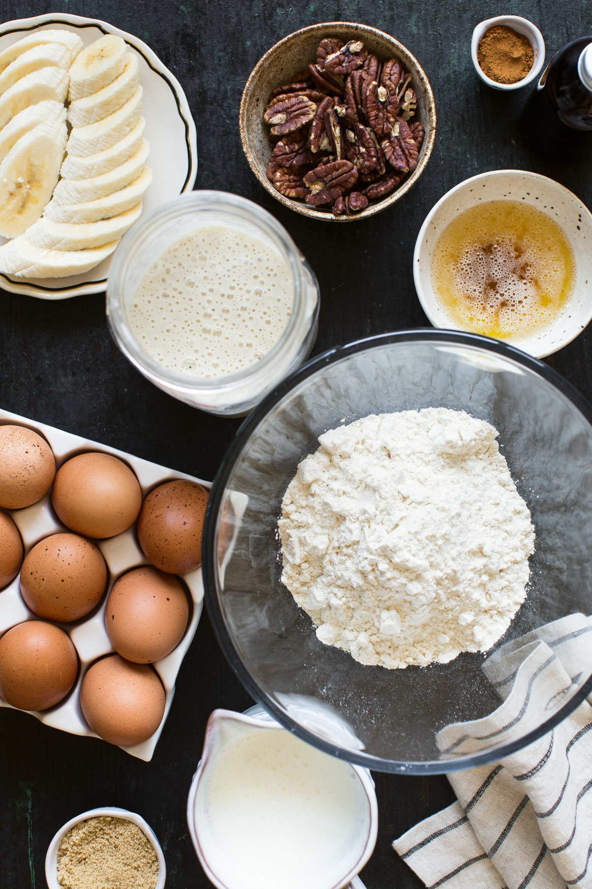 Brown Butter Sourdough Waffles Ingredients