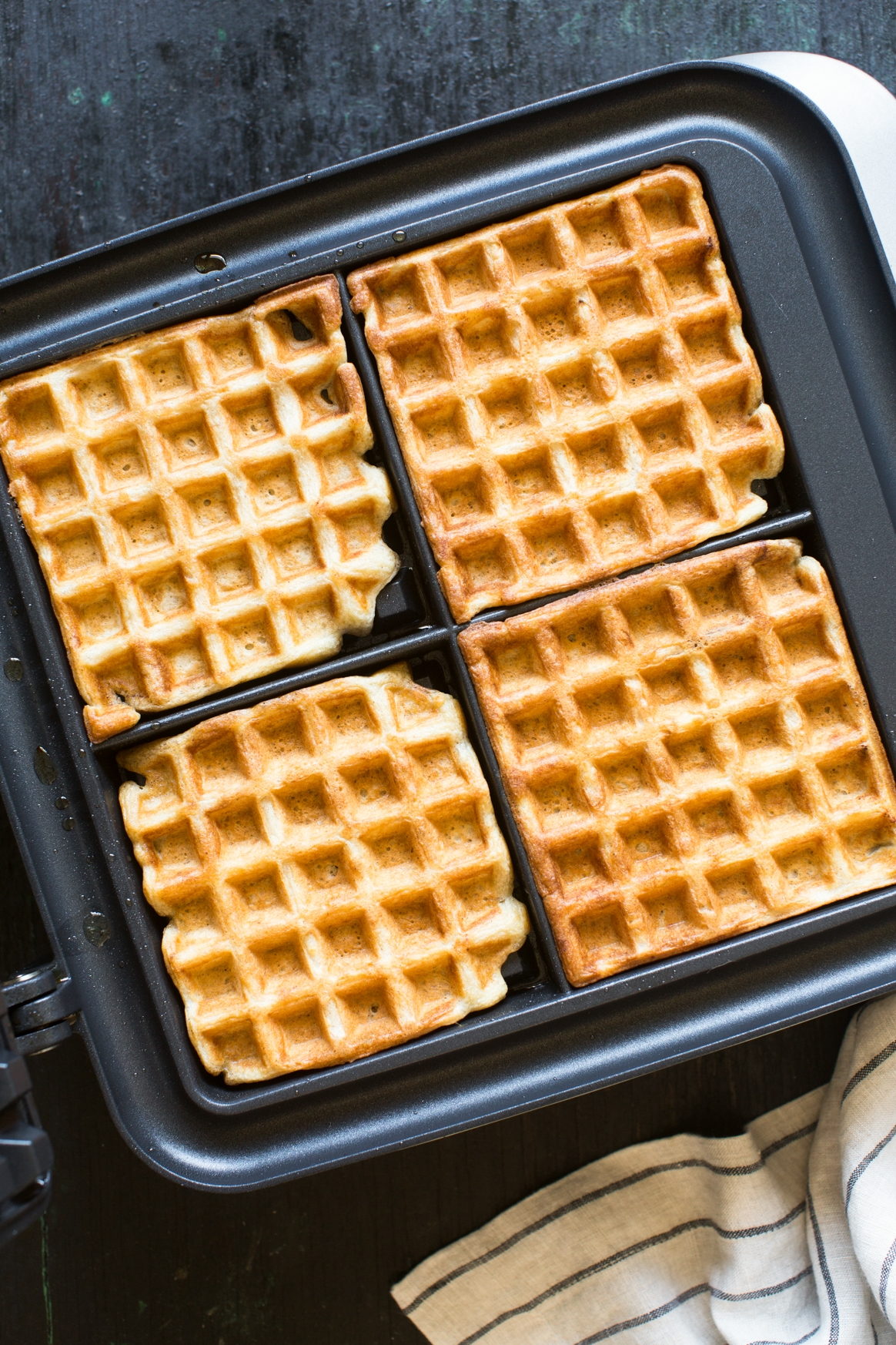 Brown Butter Sourdough Waffles Recipe